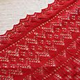 Fir Cone Square Shawl, detalj