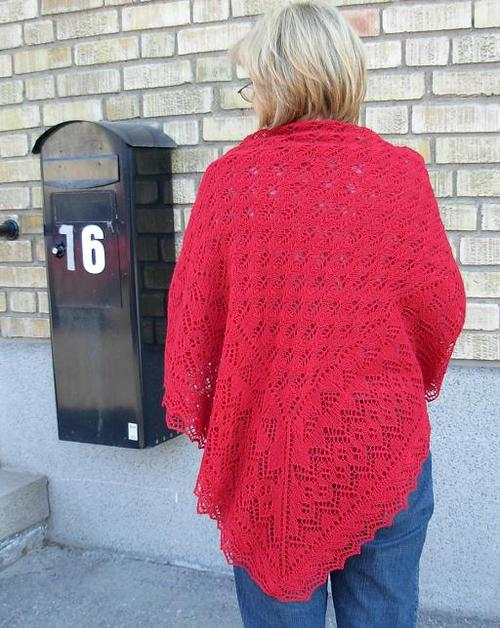 Fir Cone Square Shawl